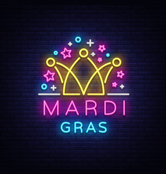 mardi gras design template for greeting cards vector image vector image