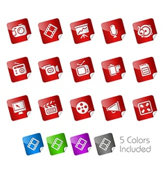 Multimedia Stickers vector image