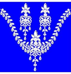 necklace womens wedding with precious vector image vector image
