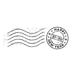 new year post rubber stamp isolated on white vector image vector image