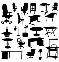 office furniture set vector image vector image