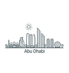 Outline abu dhabi banner vector