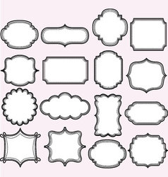 Pink label frames collections vector