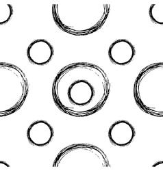 Seamless stylish hand drawn pattern vector image