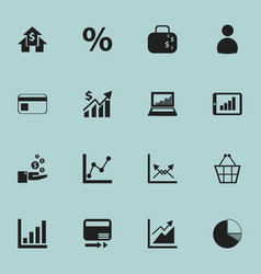 set of 16 editable logical icons includes symbols vector image
