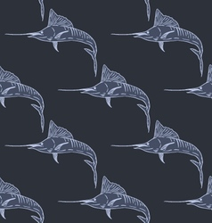 Swordfish seamless pattern dark background vector image vector image