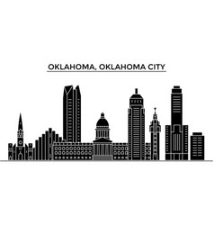 usa oklahoma oklahoma city architecture vector image