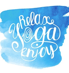Yoga blue vector