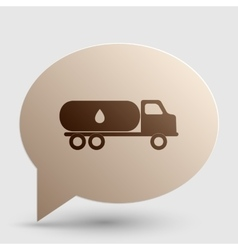 Car transports oil sign brown gradient icon on vector