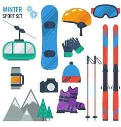 Equipment for winter recreation vector