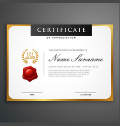Elegant clean certificate template layout design vector
