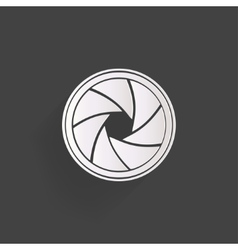Photo camera diaphragm icon vector