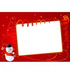 postcard snowman vector image