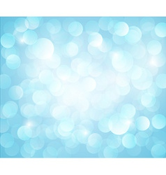 Light blue bokeh background vector
