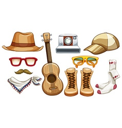 Hipster items vector