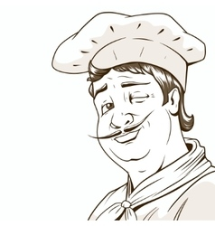 Chef character brown colors vector