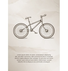Bike vintage label logo frame brochures vector