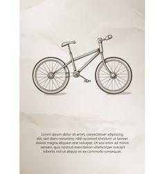 Bike Vintage Label Logo Frame Brochures vector image