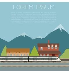 Suburban train banner vector