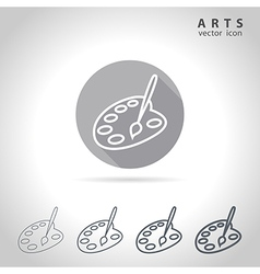 Arts outline icon vector