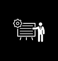 business processes icon flat design vector image