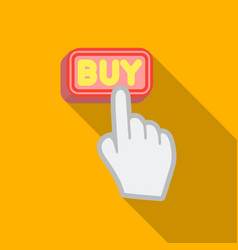 Buying click icon in flat style isolated on white vector