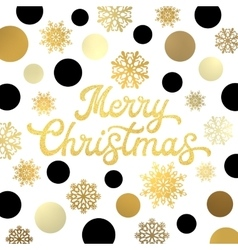 Christmas lettering with glitter gold confetti vector image vector image