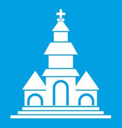 Church icon white vector