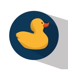 Cute ducks toy icon vector