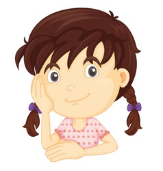 Cute girl half body vector image vector image