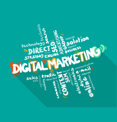 Digital marketing word cloud vector