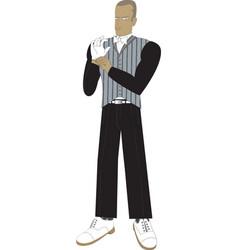 Elegant butler vector