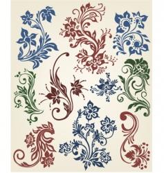 flowers vintage design vector image