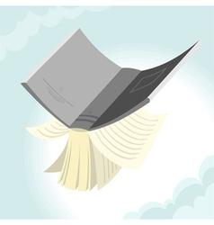 Flying book vector