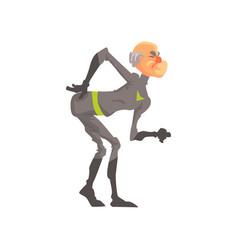 full length portrait of elderly superhero vector image vector image