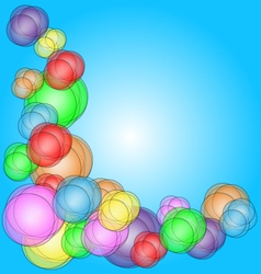 Fun-bubble-corner vector