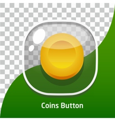 Game button icons coins for mobile games vector