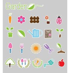 Gardening color icon vector