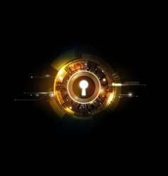 glow keyhole abstract futuristic background vector image
