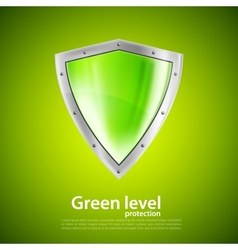 Green shield vector image