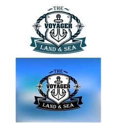 Heraldic marine shield vector