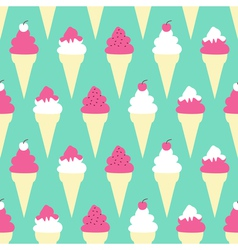 Ice Cream Cones Background vector image