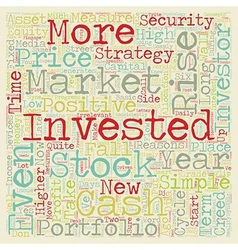 Investment strategy the investor s creed text vector