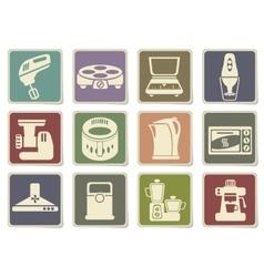 Kitchen utensils icon set vector