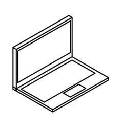 Laptop computer isometric icon vector