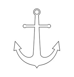 Marine anchor the black color icon vector