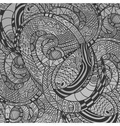 Monochrome decorative Snake Pattern vector image