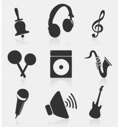 musical icons2 vector image vector image