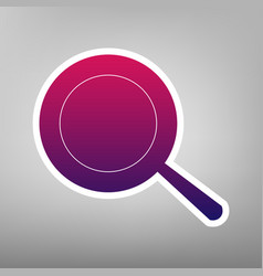 Pan sign purple gradient icon on white vector