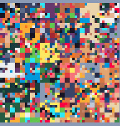 pixel art glitch colorful geometric seamless vector image